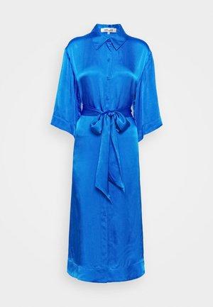 BELTED SHIRT DRESS - Cocktail dress / Party dress - tanzanite