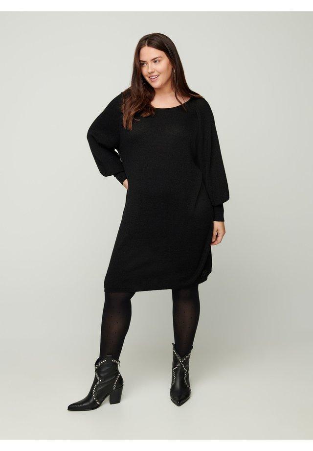 Abito in maglia - black