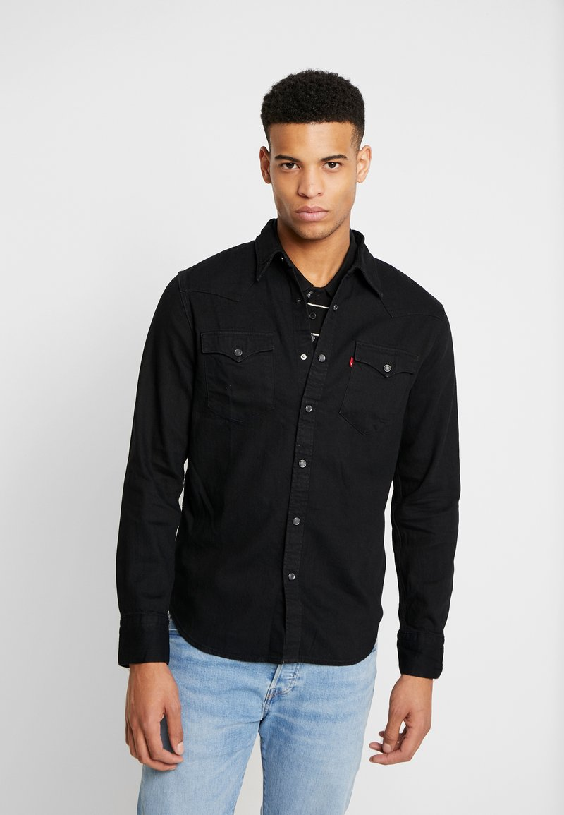 Levi's® - BARSTOW WESTERN STANDARD - Shirt - marble black denim rinse