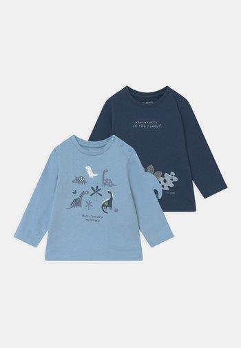 2 PACK - Long sleeved top - dark blue/blue