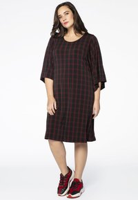 Yoek - Day dress - black/red - 1