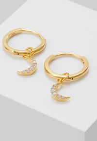 Astrid & Miyu - MYSTIC MOON PENDANT EARRINGS HOOPS - Boucles d'oreilles - gold-coloured - 4