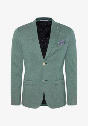 WE FASHION HERREN-SKINNY-FIT-SAKKO MIT MUSTER - Giacca elegante - green