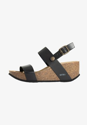 SELENE - Platform sandals - black
