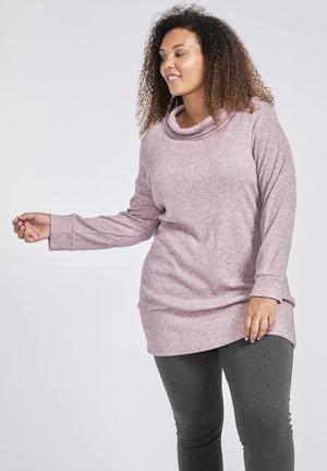 LANGER GERIPPTER - Trui - purple