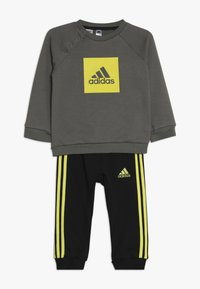 adidas Performance - 3STRIPES FRENCH TERRY TRACKSUIT BABY SET - Survêtement - green/yellow - 0