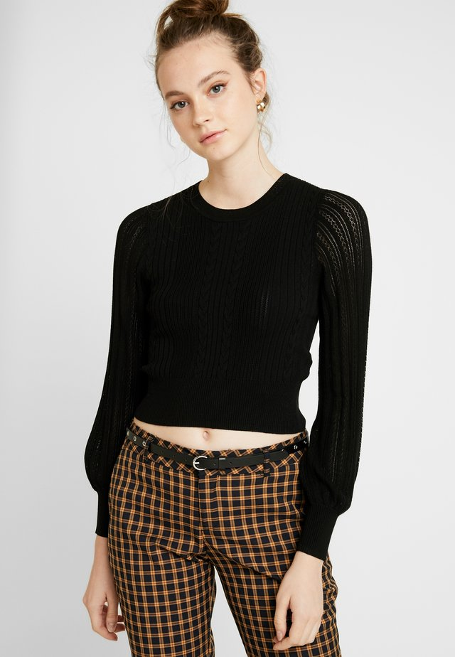 ELLIE CROP JUMPER - Svetr - black