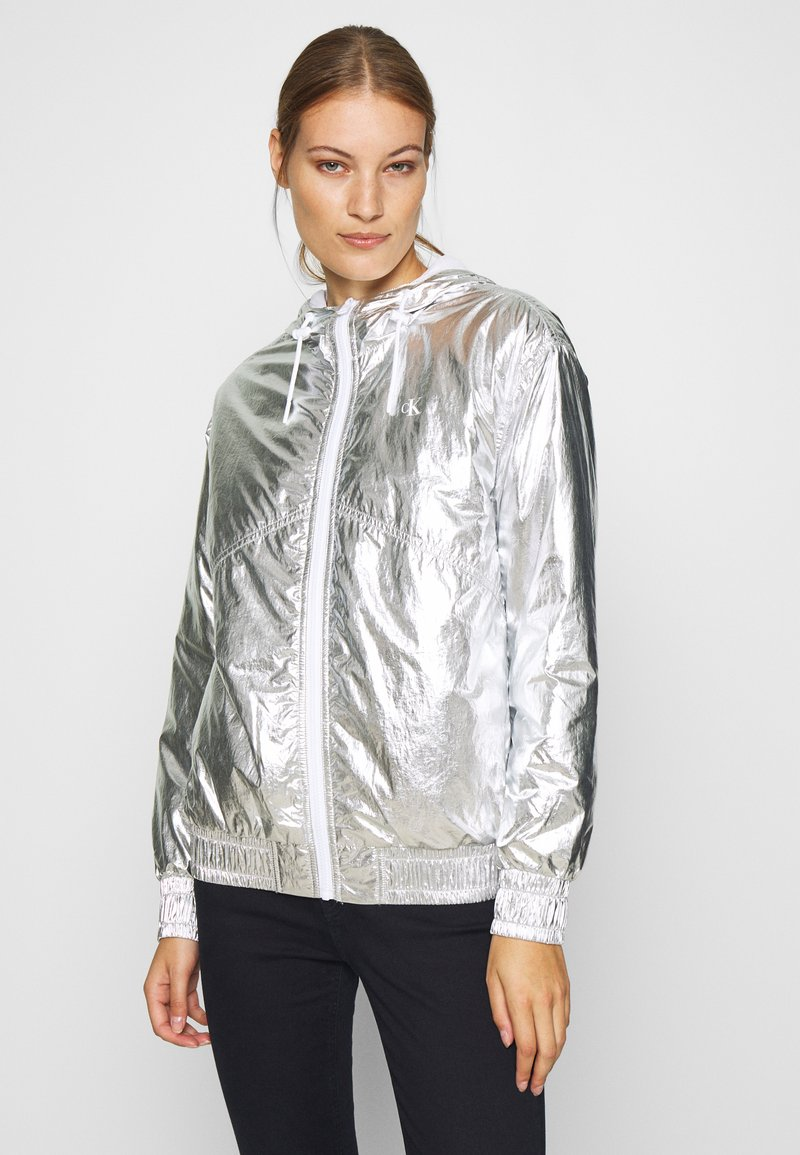 Calvin Klein Jeans - Light jacket - silver metallic
