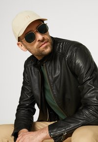 Selected Homme - SLHICONIC RACER - Leather jacket - black - 4
