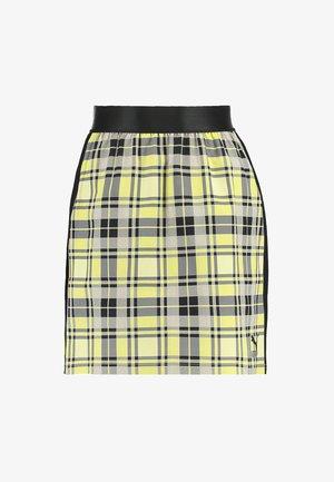 CHECK SKIRT - Mini skirt - yellow cream