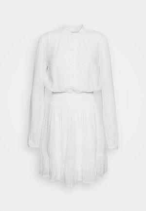 CLIP DOTS DRESS - Abito a camicia - white