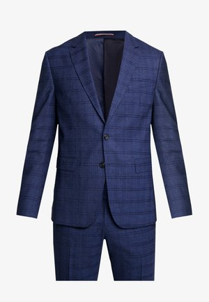 CHECK SLIM FIT SUIT - Suit - blue