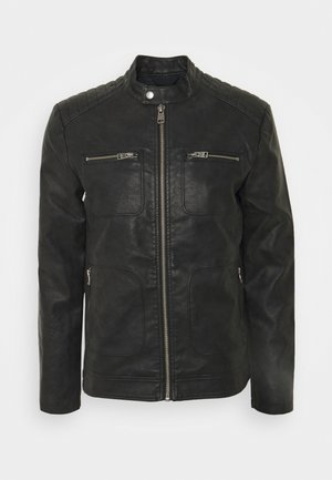 VEGAN - Faux leather jacket - black