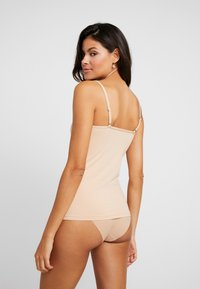 Skiny - DAMEN SPAGHETTISHIRT 2ER PACK - Maglietta intima - beige - 2