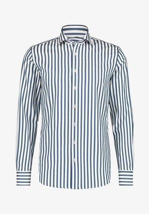 Overhemd - cobalt/white