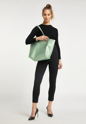 Tote bag - grün metallic