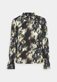 ONLERIN TIE TOP - Long sleeved top - black