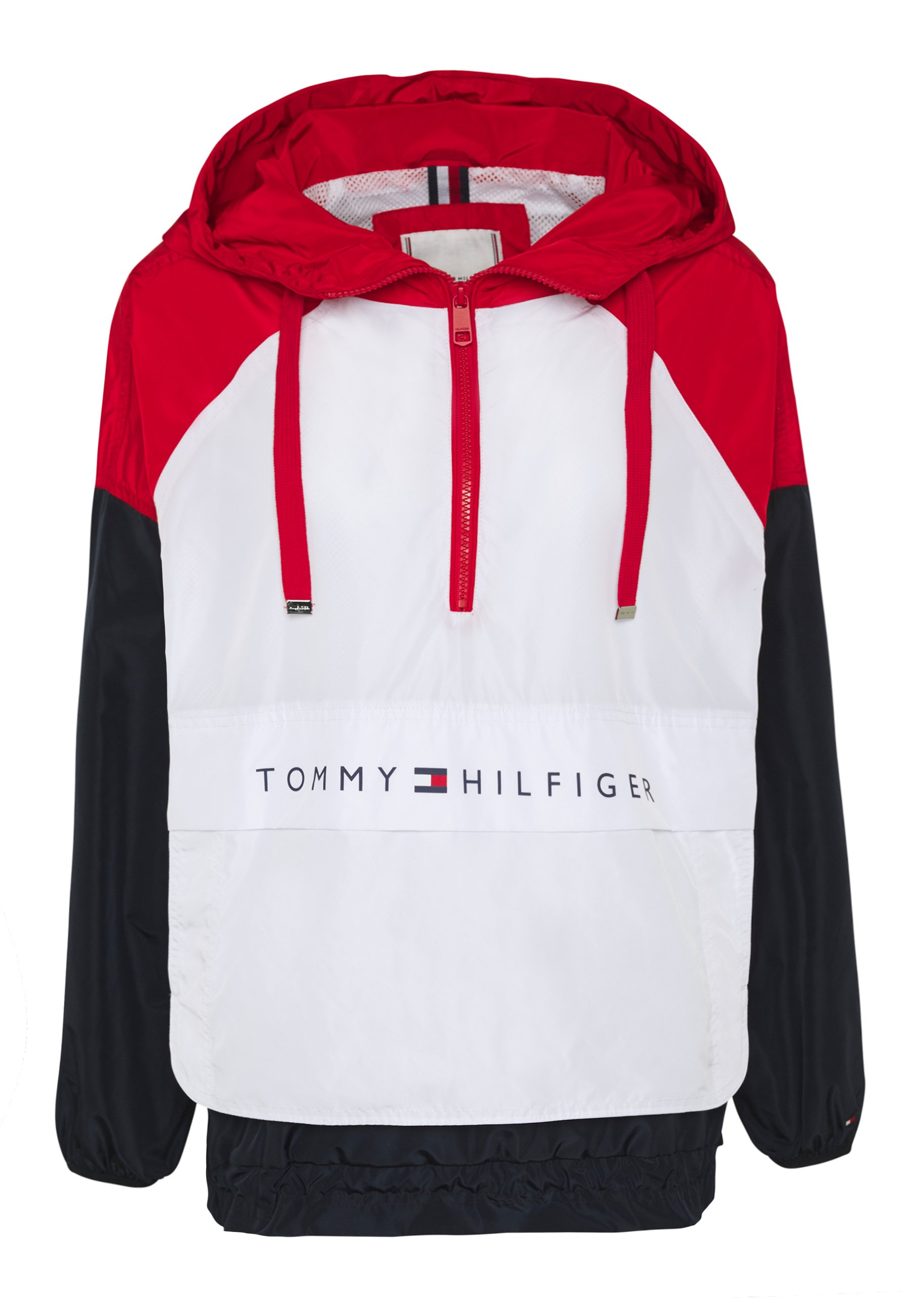 CORY PACKABLE POPOVER Leichte Jacke white red