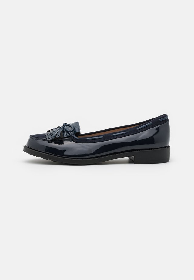 WIDE FIT LEXY TASSLE LOAFER - Slip-ons - navy