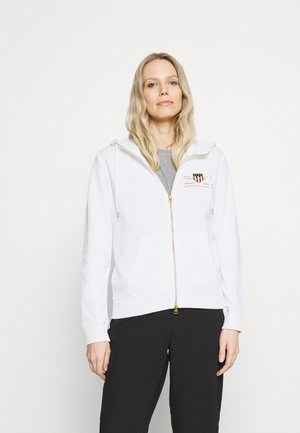 ARCHIVE SHIELD FULL ZIP HOODIE - Bluza rozpinana - eggshell