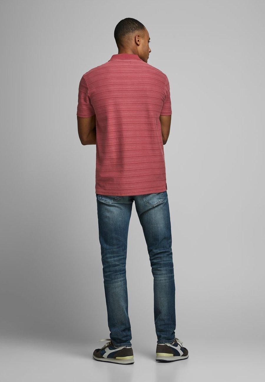 Jack & Jones PREMIUM POLOSHIRT GESTREIFTES - Polo shirt - red dahlia y50Q5