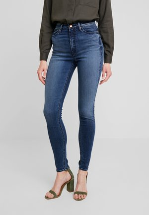 CHRISTINA HIGH - Jeansy Skinny Fit - dark-blue denim