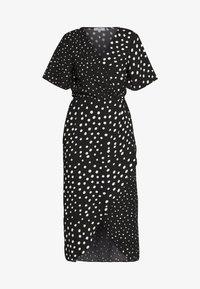 MIX AND MATCH SPOT MANIPULATED WAIST DRESS - Day dress - black