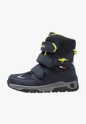 GORD RTX - Winter boots - dark navy/lime