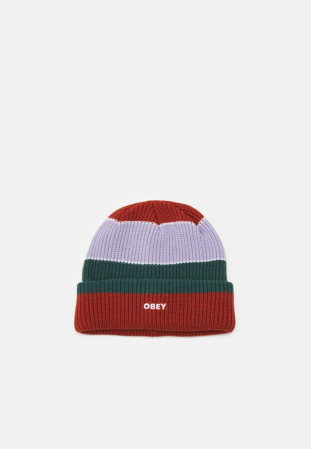 FUTURE STRIPE BEANIE UNISEX - Pipo - auburn/multi-coloured