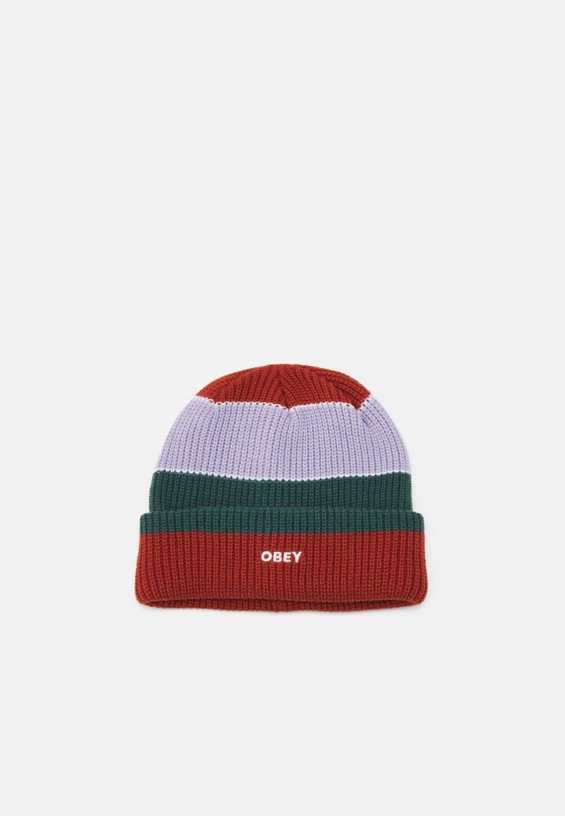 Obey Clothing - FUTURE STRIPE BEANIE UNISEX - Bonnet - auburn/multi-coloured