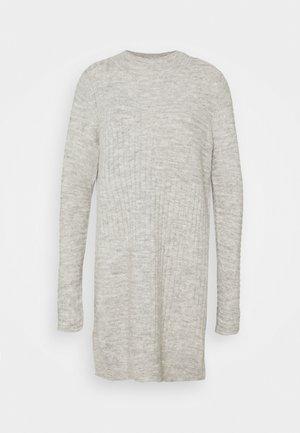 BLOCK DRESS - Gebreide jurk - grey marl