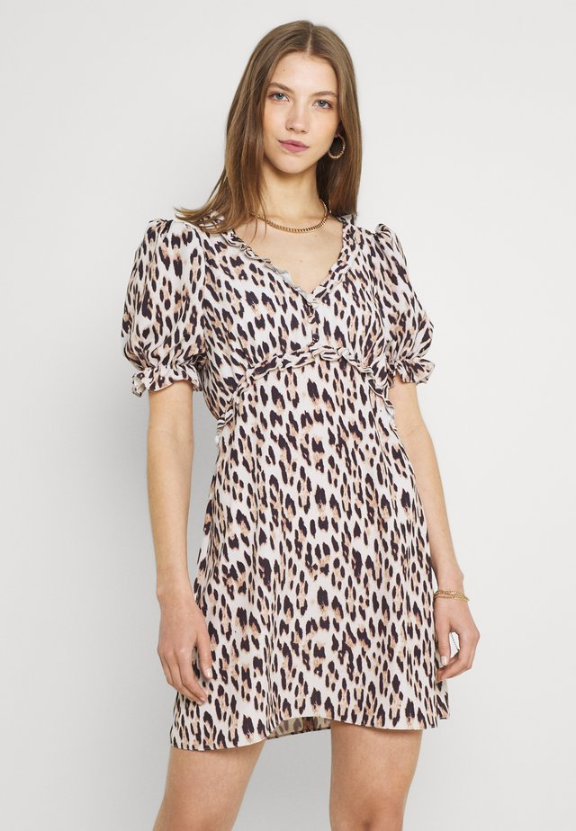 OPEN BACK TEA MINI DRESS - Sukienka letnia - beige