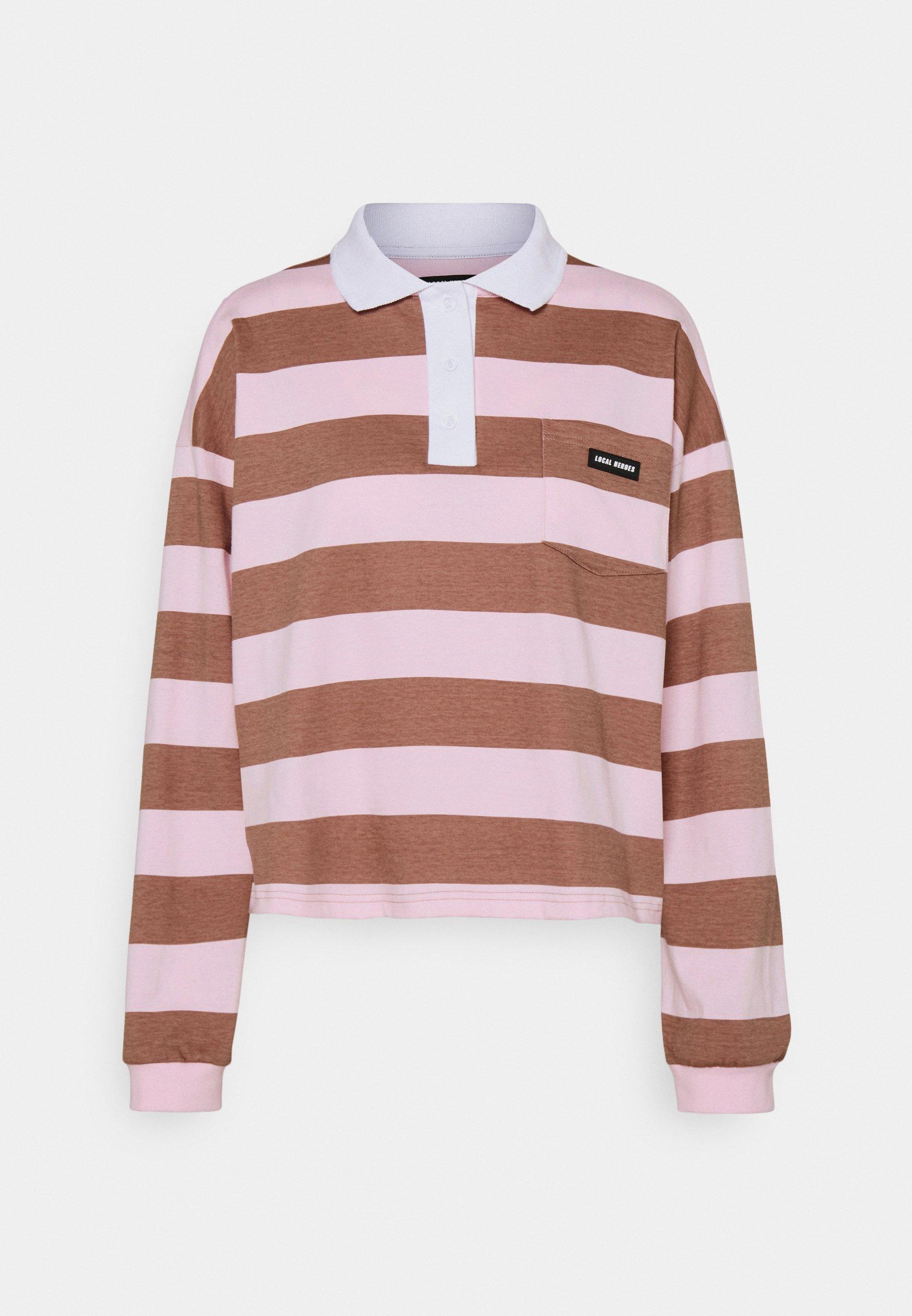 Women EASY STRIPED LONGSLEEVE - Polo shirt