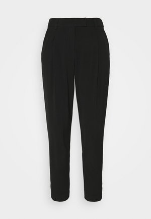 PANTS PLEATED - Stoffhose - deep black