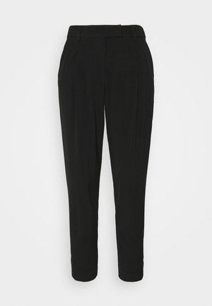 PANTS PLEATED - Tygbyxor - deep black