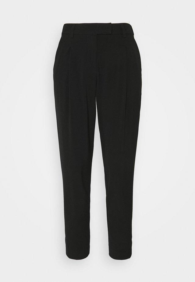 PANTS PLEATED - Trousers - deep black