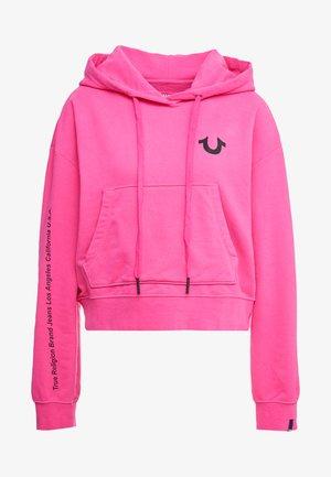 EXCLUSIVE HOODY CROP - Hoodie - pink yarrow