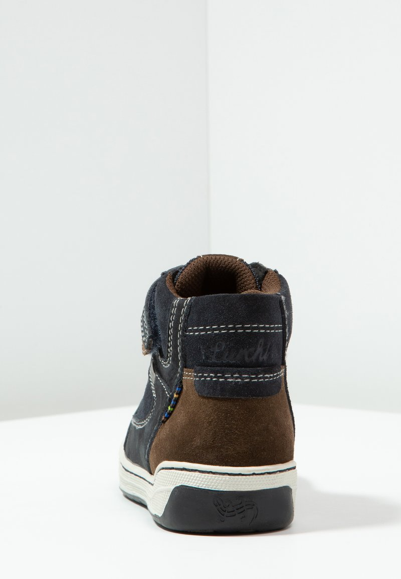Atlantic Brown Lurchi Boys Barney-Tex Hi-Top Trainers