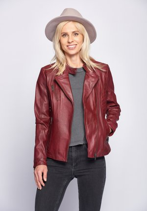 SALLY - Leather jacket - red