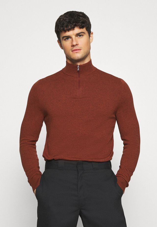 CORE HALF ZIP - Strikkegenser - ginger