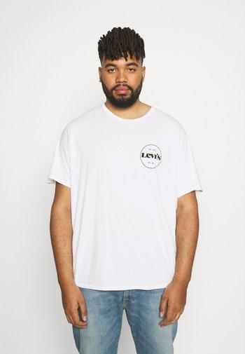 2 PACK - Print T-shirt - white/dress blues