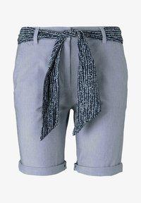 TOM TAILOR - Shorts - navy thin stripe - 6