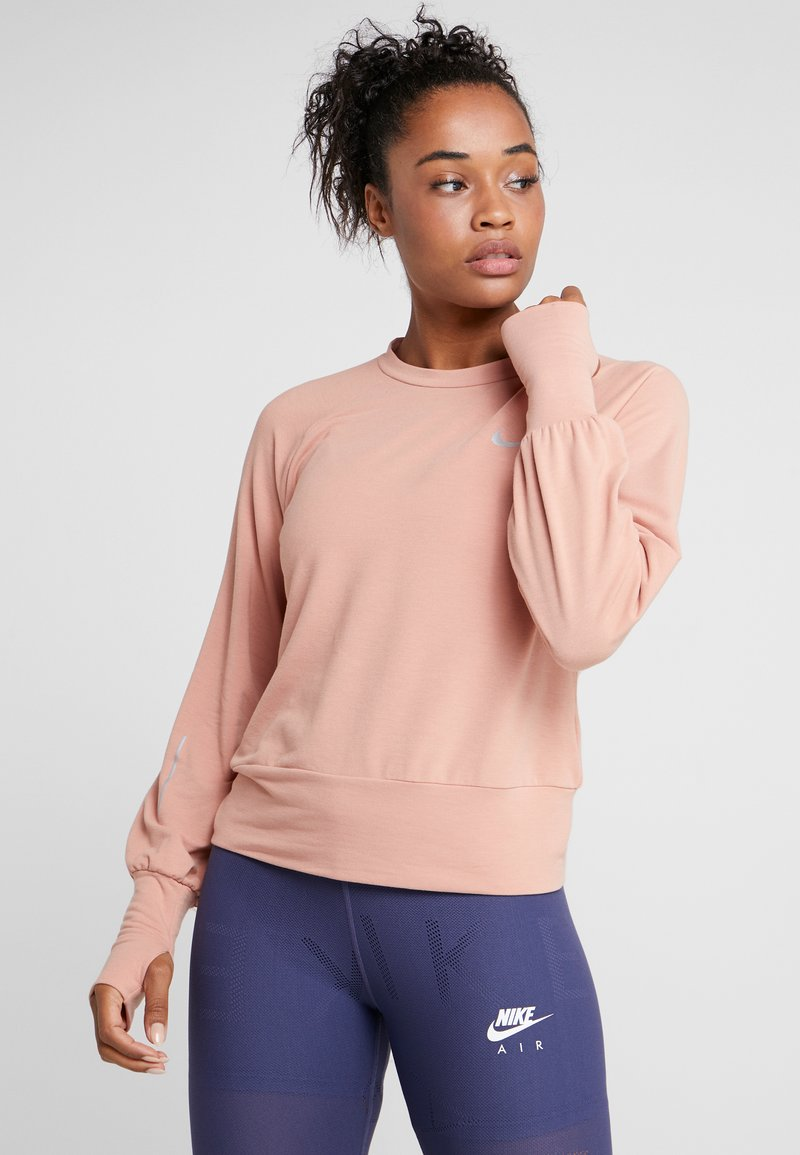Nike Performance - MIDLAYER TWIST - Sweatshirt - rose gold