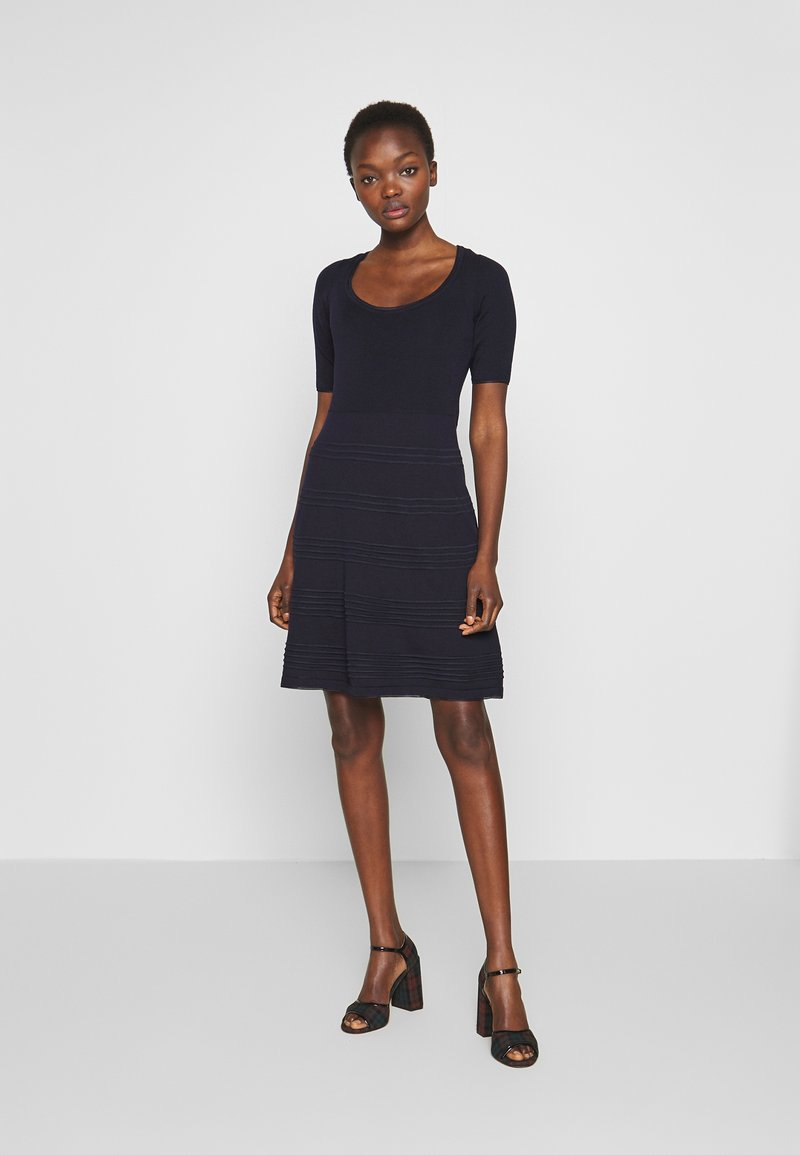 M Missoni - DRESS - Strikket kjole - dark blue