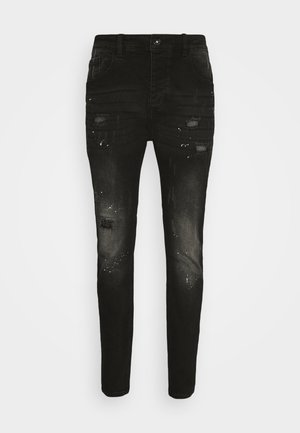 SPACE - Jeansy Slim Fit - black