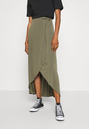 OBJANNIE  - Maxi skirt - burnt olive