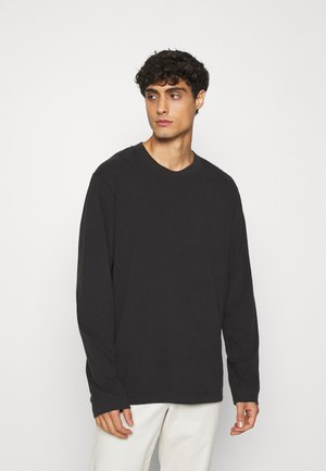 LONG SLEEVE TOP - Long sleeved top - black dark