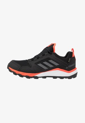 TERREX AGRAVIC GORE-TEX TRAIL RUNNING SHOES - Zapatillas de trail running - core black/grey four/solar red