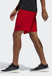 adidas Performance - 4KRFT SPORT ULTIMATE 9-INCH KNIT SHORTS - Shorts - red - 3
