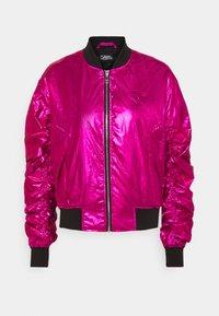 KARL LAGERFELD - IKONIK - Bombertakki - metallic pink - 0